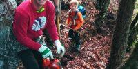Urejanje lovske steze v Dražgoški gori